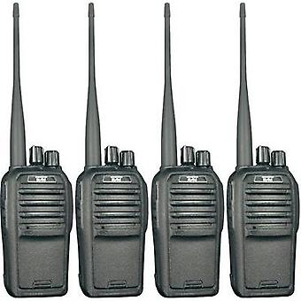 PMR handheld transceiver Team Electronic TeCom-SL PR8571 4-piece set