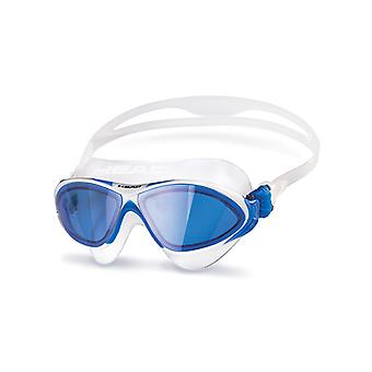 Head Horizon Swim Goggle - Blue Lens - Clear/White/Blue