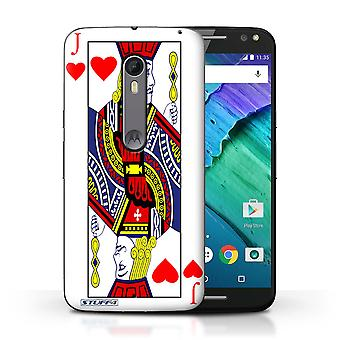 STUFF4 Case/Cover for Motorola Moto X Style/Jack of Hearts/Playing Cards