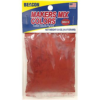 Makers-Mix Stepping Stone Colorant .5oz-Brick MMC-B5OZB