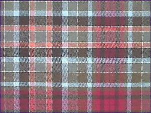 Gordon Red, Muted - Pure Wool Tartan