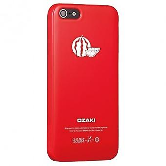 Ozaki OC537WT O! Coat fruit watermelon cover case iPhone 5 / 5s - bright red