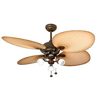 Ceiling Fan Palm Chocolate Brown with light 132 cm / 52