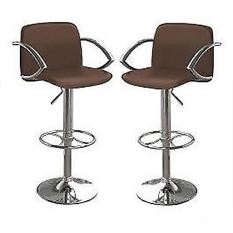 Parijs Brown Bar Stool Gas Lift