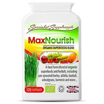 Specialist Supplements MaxNourish Organic 100 Capsules