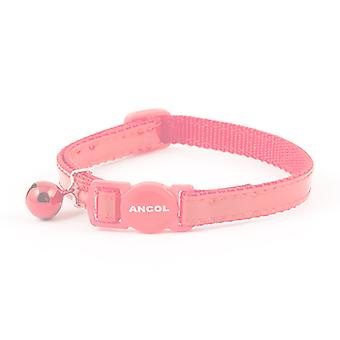 Safety Buckle Cat Collar Reflective Gloss Heart Red (Pack of 3)