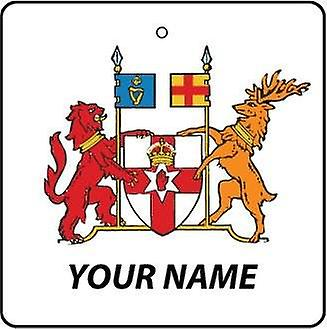 Personalised Northern Ireland Coat Of Arms Car Air Freshener