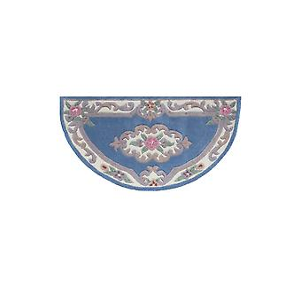 Blue Traditional Semi Circle Wool Rug Imperial