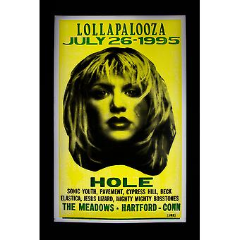 Hole retro concert poster