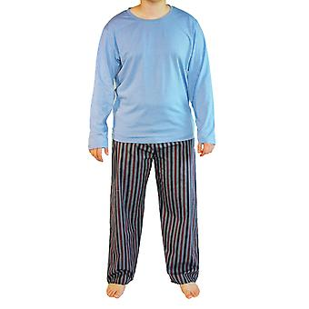Mens Haigman Plain-Printed Cotton Long Pyjama nightwear lounge wear