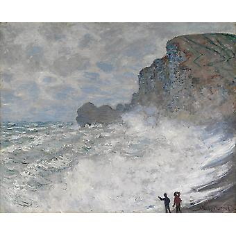 Claude Monet - Rough weather Poster Print Giclee