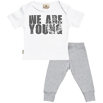 Spoilt Rotten We Are Young Baby T-Shirt & Baby Jersey Trousers Outfit Set