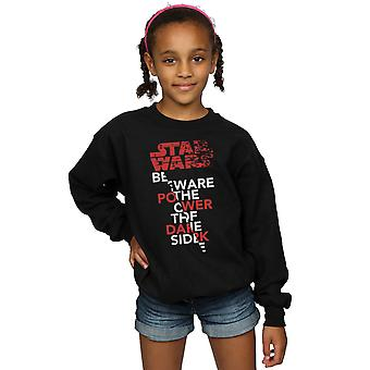 Star Wars Girls The Last Jedi Power Of The Dark Side Sweatshirt