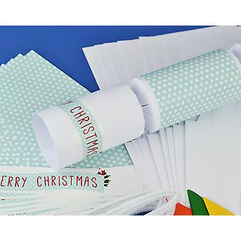 8 White Shabby Chic Make & Fill Your Own Christmas Crackers Kit