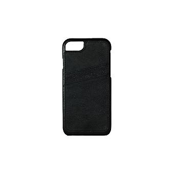 Essentials iPhone 7/6S Plus, Dual Card Leather Cover, black