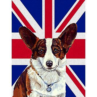 Corgi mit englischen Union Jack britische Flagge Fahne Leinwandgröße Haus