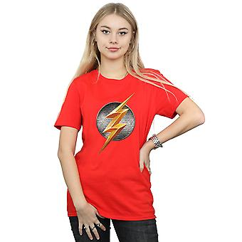 DC Comics Women's Justice League Movie Flash Emblem Boyfriend Fit T-Shirt