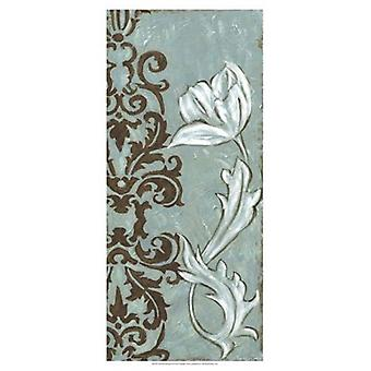Floral and Damask II Poster Print by Chariklia Zarris (13 x 19)