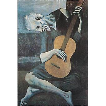Old Guitarist Poster Print by Pablo Picasso (24 x 36)