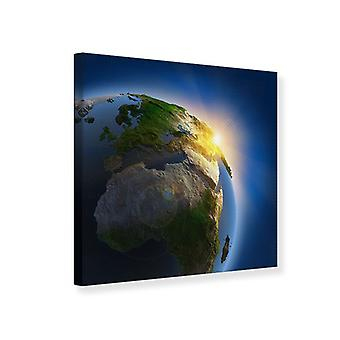 Canvas Print Sun And Earth