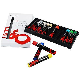 Pebeo Ara Oil Pastels Set Of 12 Assorted Colours***