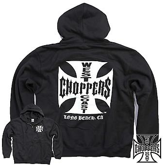 West Coast Choppers Zip Hoody Iron Cross