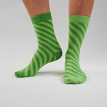 The One From The Logo - Colourful, Bright Green, Comfortable Cotton Unisex Odd Socks By Bsilysocks