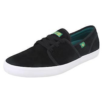Herre Vox ruskind Casual sko Fisker - sort/Aqua grøn/hvid ruskind - UK størrelse 10 - EU størrelse 45 - US størrelse 11
