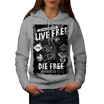 Live Die Snake Women GreyHoodie | Wellcoda