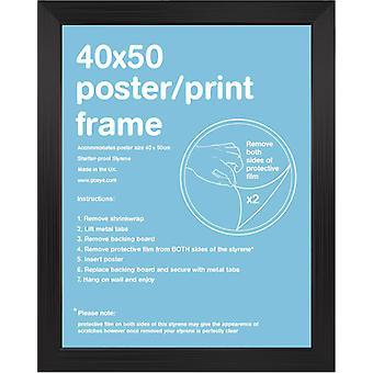 40x50cm flach Schwarz Satin Mini Frame