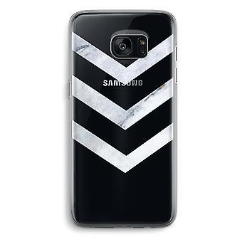 Samsung Galaxy S7 Transparent Grenzfall - Marmor Pfeile