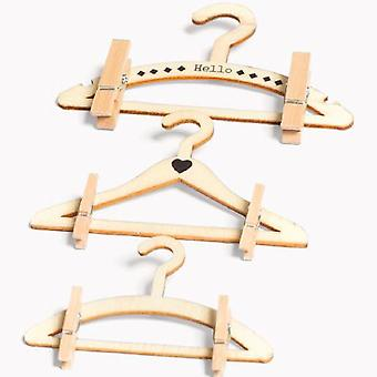Baby douche Mini houten Hangers Set 3 decoratie