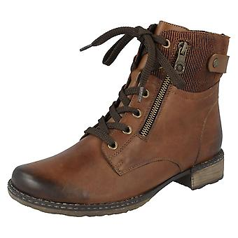 Ladies Remonte Ankle Boots D4379-25 - Brown Leather - UK Size 7.5 - EU Size 41 - US Size 9.5