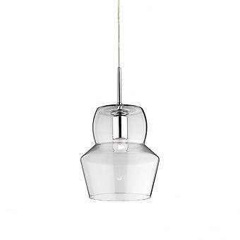 Идеальные Lux Зенона 22 см прозрачного стекла Кулон тень