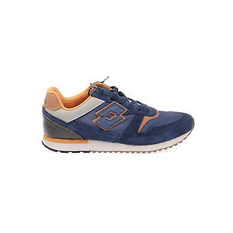 Lotto men's T4576NAVY Blau leather of sneakers