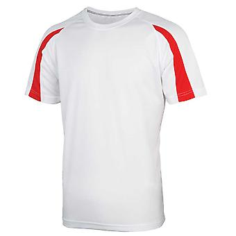 Just Cool Mens Contrast Cool Colours Crew Neck Short Sleeve Sports T-Shirt