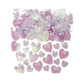SALE - 14g Loving Hearts Confetti Sequins for Crafts - Iridescent Sheen