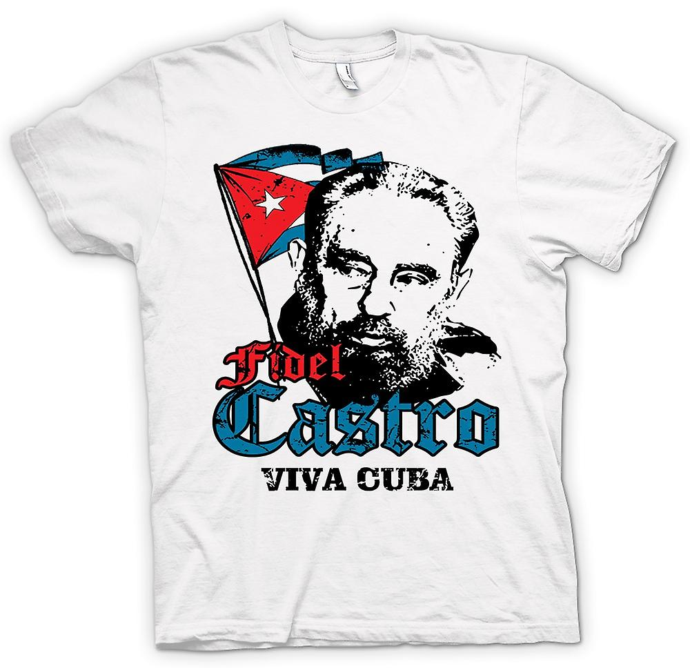 Womens T-shirt - Fidel Castro Viva Kuba - kommunismen