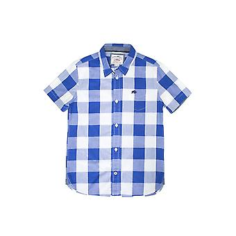 Short Sleeve Boys Check Shirt