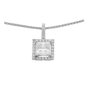 Orphelia Silver 925 Chain With Pendant Square Zirconium  ZH-6046