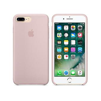In its original packaging Apple MMT02 silicone Micro Fiber cover case for iPhone 8 + plus / 7 + - sand pink