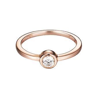 ESPRIT women's ring silver Rosé cubic zirconia tiny ESRG92424B1
