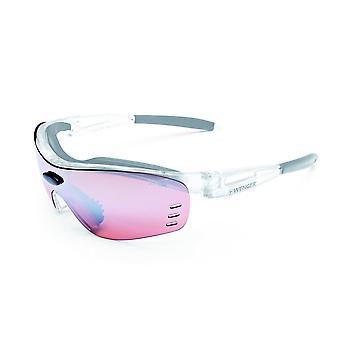 Wenger X-Kross glasses OF1008. 01 Cristall silver / black lens bike active red