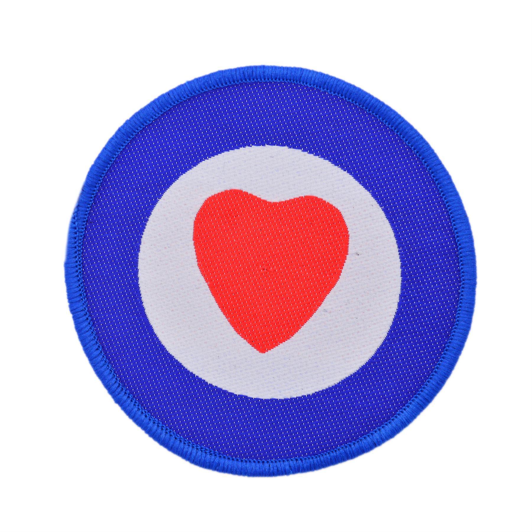 Heart Target Woven Patch