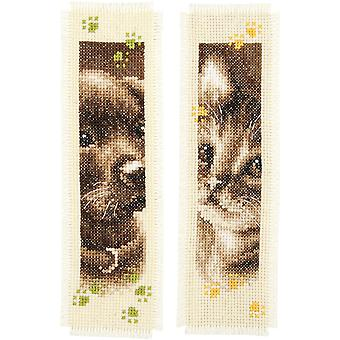 Cat & Dog Bookmarks On Aida Counted Cross Stitch Kit-3