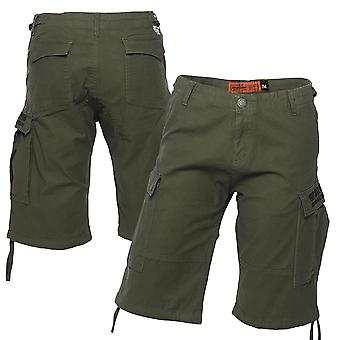 West Coast choppers mens Cargoshorts Last kort olivgrön