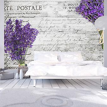 Behang - lavendel briefkaart
