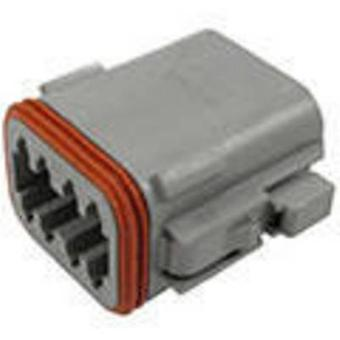 TE Connectivity DT06-08SA-C015 Bullet connector Socket, straight Series (connectors): DT Total number of pins: 8 1 pc(s)