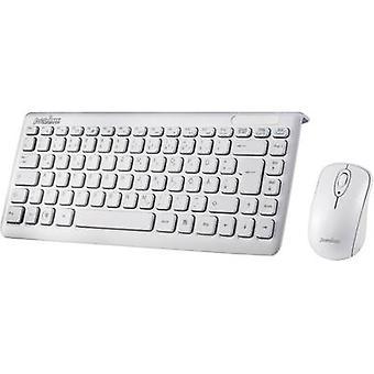 Perixx Periduo-707 Plus W Wireless keyboard/mouse combo White