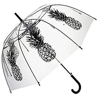 Straight Clear Umbrella (Gray Pineapple)